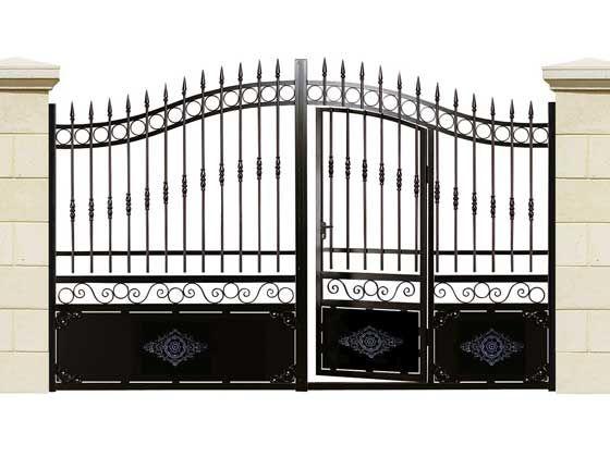 Portail En Fer Caraibes Portillon Incorpore 3 50m 23724 Portail Portillon Portail Avec Portillon Integre Portail