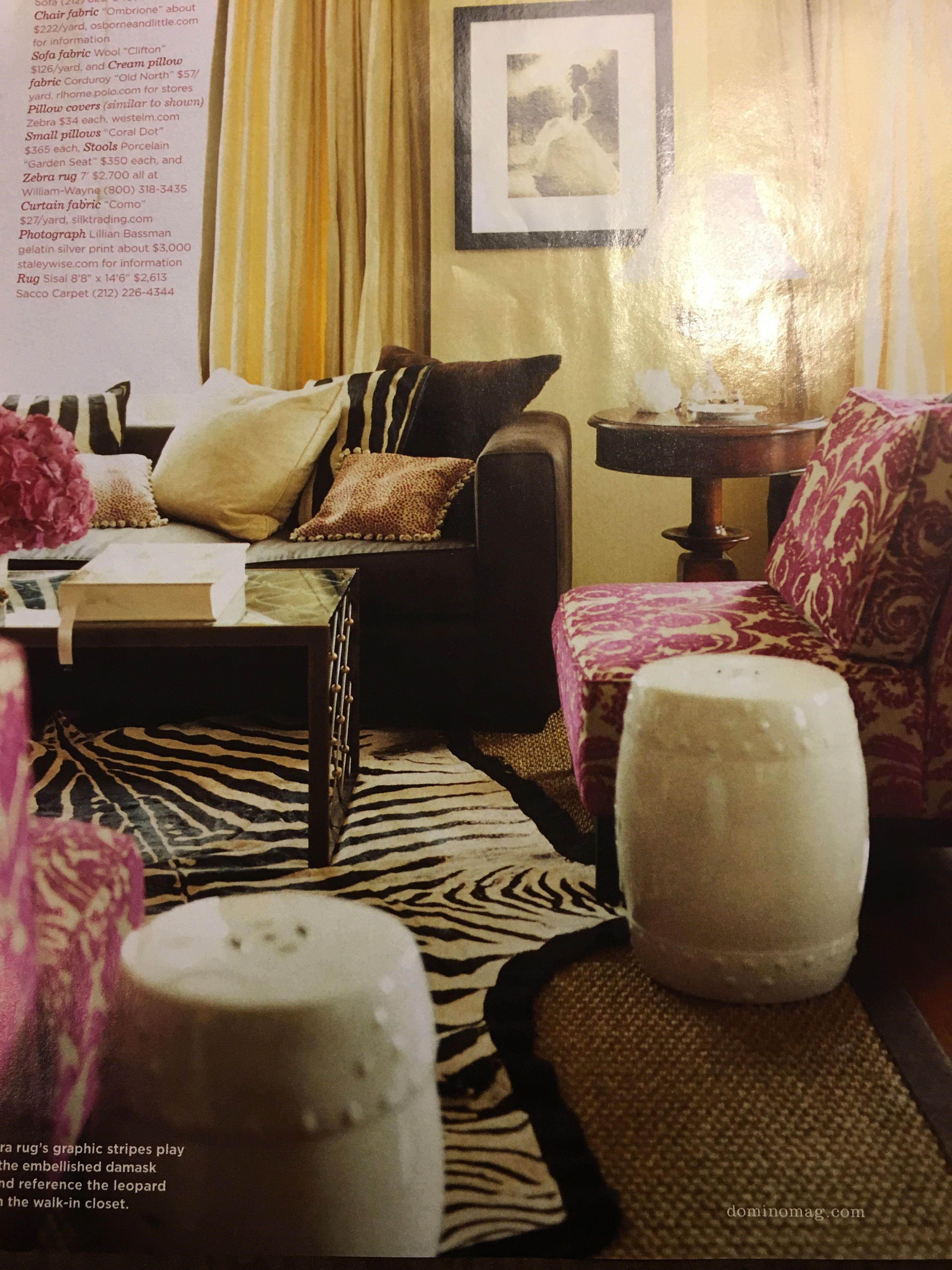 Love the fuchsia chairs and zebra | For the Home | Pinterest ...