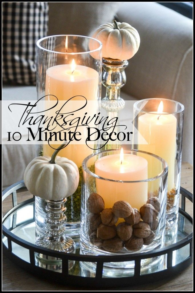 Thanksgiving minute decorating give thanks it s fall