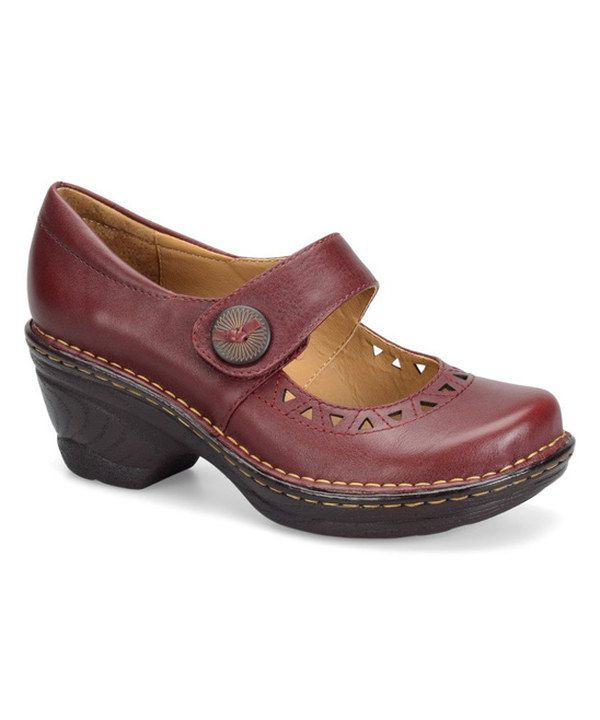 Look at this Softspots Red Lesley Leather Mary Jane on #zulily today!
