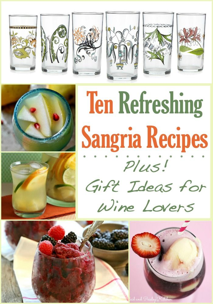 Get 10 sangria recipes and gift ideas for wine lovers get 10 sangria recipes and gift ideas for wine lovers refreshingly fruity sangria flavors include negle Images