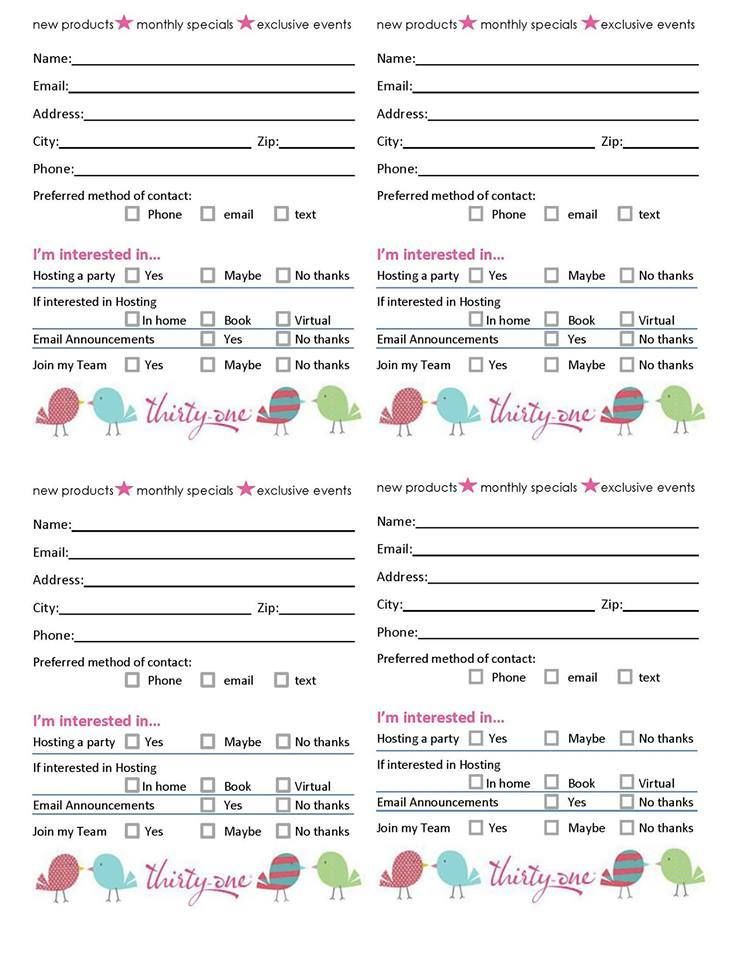 Door prize slips thirty-one Pinterest Door prizes, Doors and