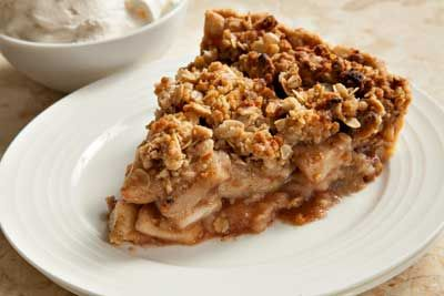 recipe: crustless apple pie with crumb topping [4]