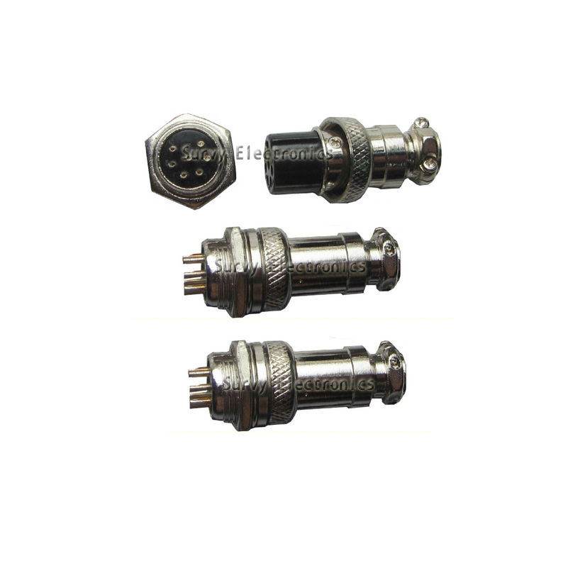 5Pcs Aviation Plug 7-Pin 16mm GX16-7 Male and Female Panel Metal Connector new A