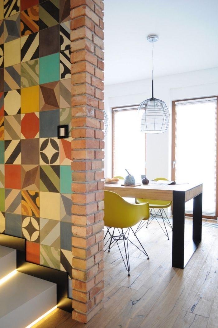 ▷ 1001 + modèles de cuisine avec carreaux de ciment Cuisine - modele de salle a manger design