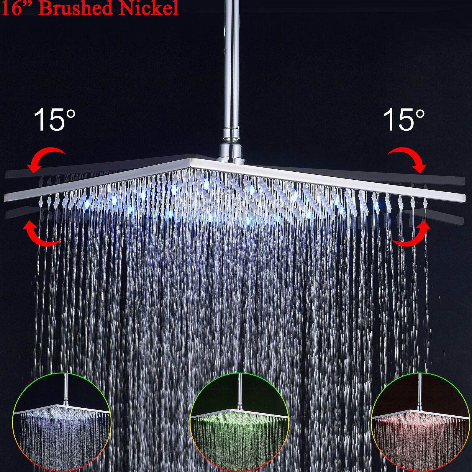 16chrome Led Rain Shower Head Top Shower Head Shower Sprayer