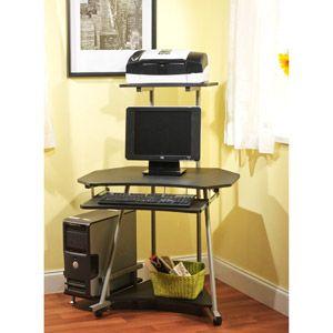 Mobile Corner Computer Tower Black Black Corner Computer Desk Corner Computer Desk Furniture