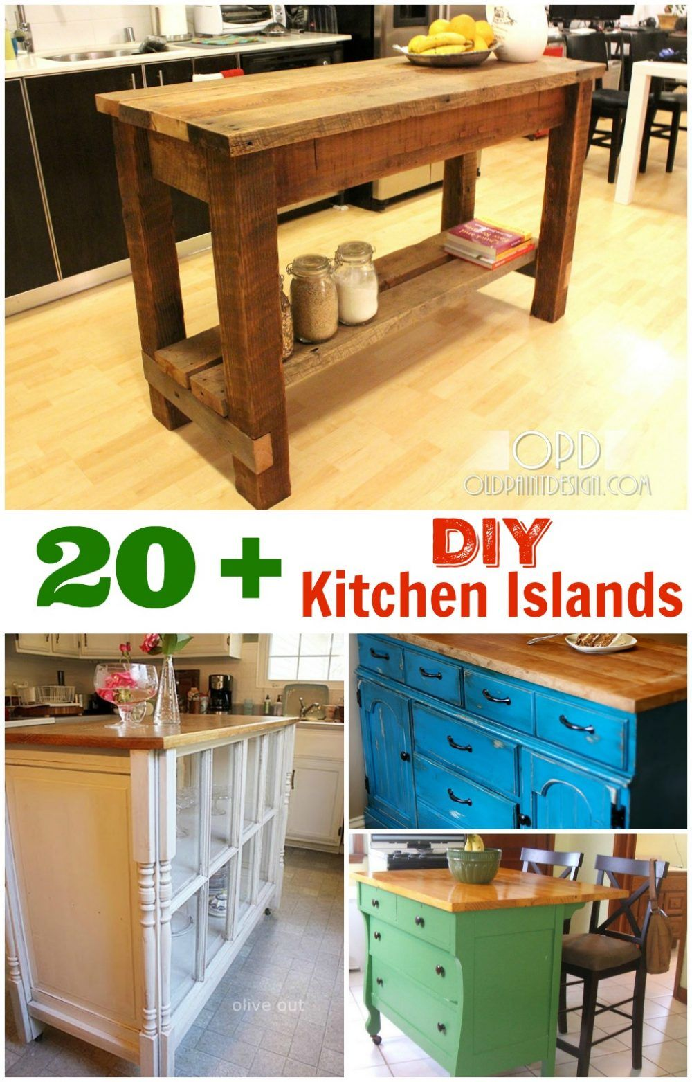 DIY Kitchen Islands. These kitchen island DIY projects are