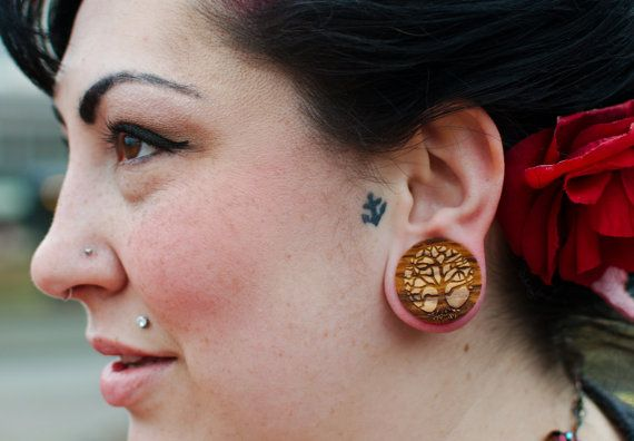 3 4 Plugs >> Tree Of Life Olivewood Wooden Plugs Pair 0g 00g 000g 7 16 11mm 1