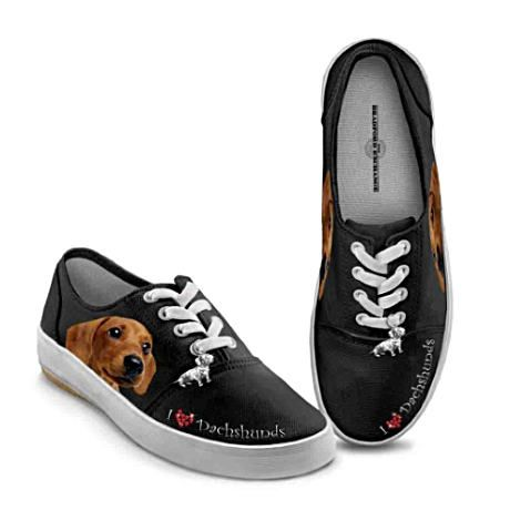For the CRAZY Dachshund Owner-Dachshund Art Women s Shoes With Sculptural  Charm by The Bradford Exchange ec1e24f10