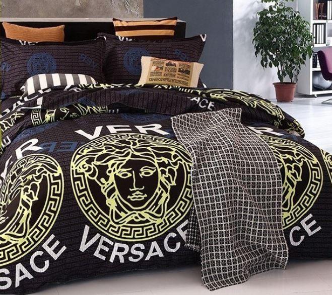 Versace Bedroom Furniture Romantic Bedroom Colours Bedroom Furniture Not Matching Bedroom Paint Ideas For Small Bedrooms: Ensemble De Lit Versace Noir