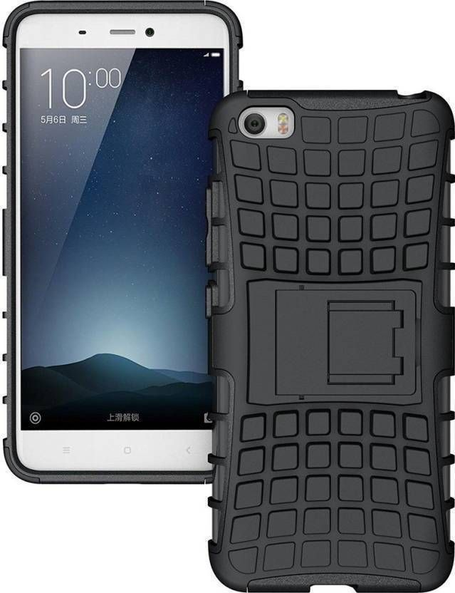 Back Cover for Oppo A37 (Black, Shock Proof, Rubber