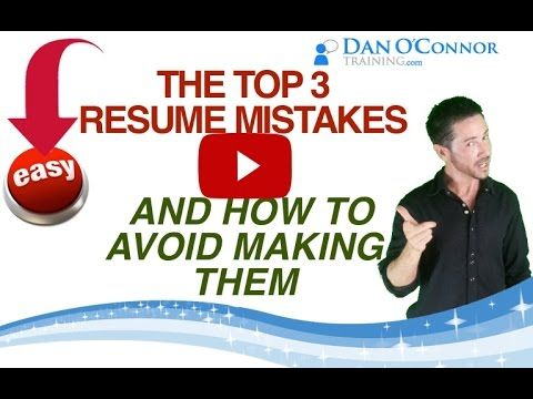 The TOP 3 Mistakes You\u0027re Making on Your Resume How to Land the