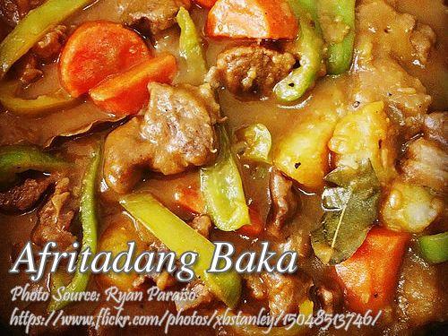 Beef Afritada (Afritadang Baka) http://www.panlasangpinoymeatrecipes.com/beef-afritada.htm #BeefAfritada #AfritadangBaka