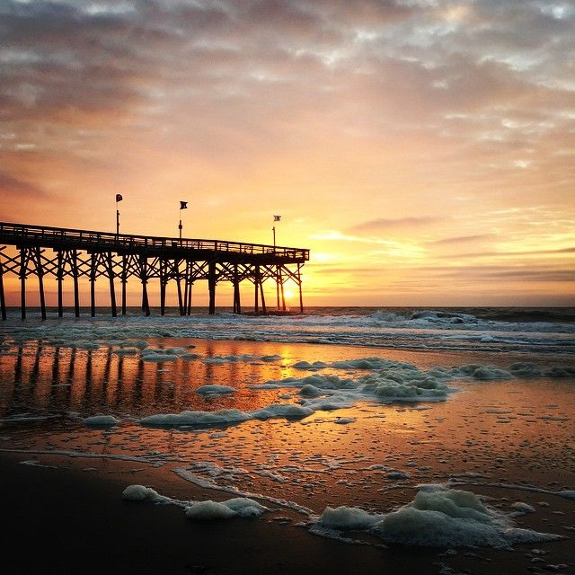 14th Avenue Pier In Myrtle Beach South Carolina The Area Has Eight Piers Pleasure One For Each Day Of Your Vacation Week And A