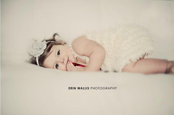 love ruffle rompers for little girls, especially for pictures