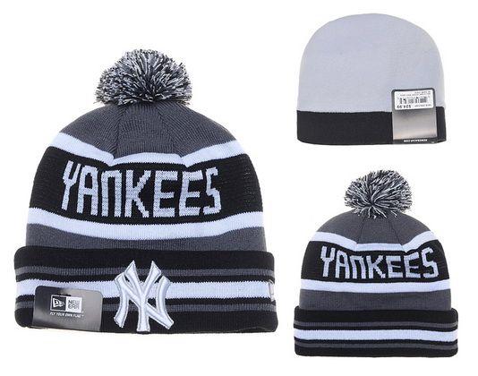 b2d61da34a5e8c MLB New York Yankee Knit Ball Cap Beanies Hat Winter Cap New Era Gray
