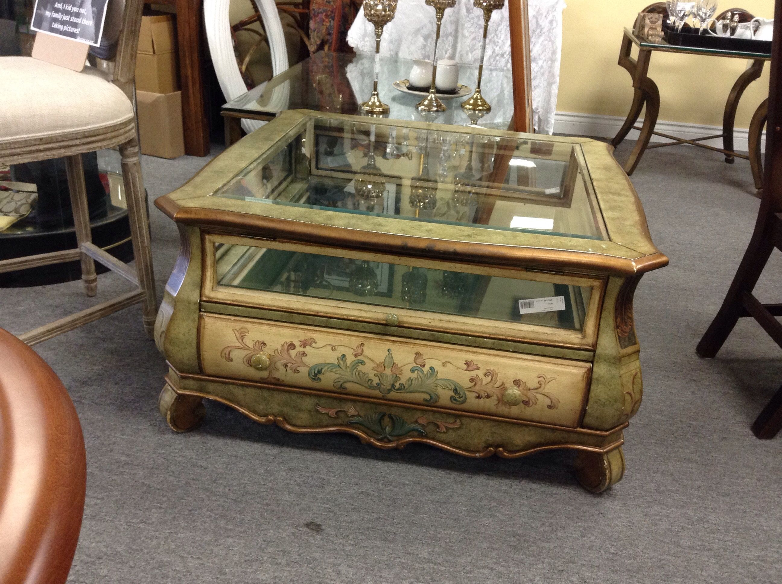 Captivating Showcase Coffee Table   Display Your Treasures In This Showcase Coffee Table.  Item 887