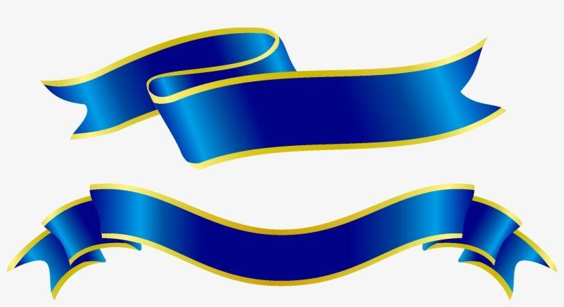 Blue Gold Banner Ribbon Vector Gold Banner Best Banner Design Blue Gold