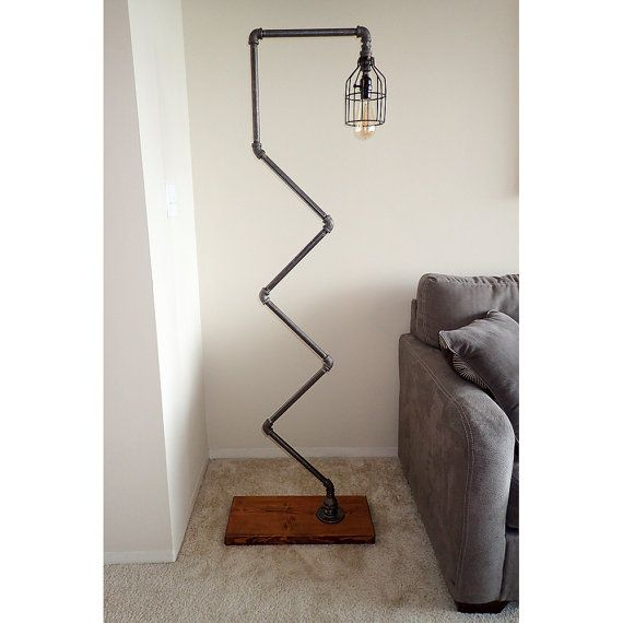 Modern Industrial Pipe Floor Lamp with Vintage Edison Bulb | House ...