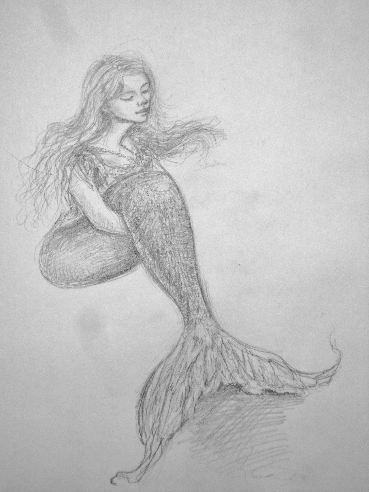 Mermaid by Kelsey Hamersley | Art, Drawings, Unique drawings