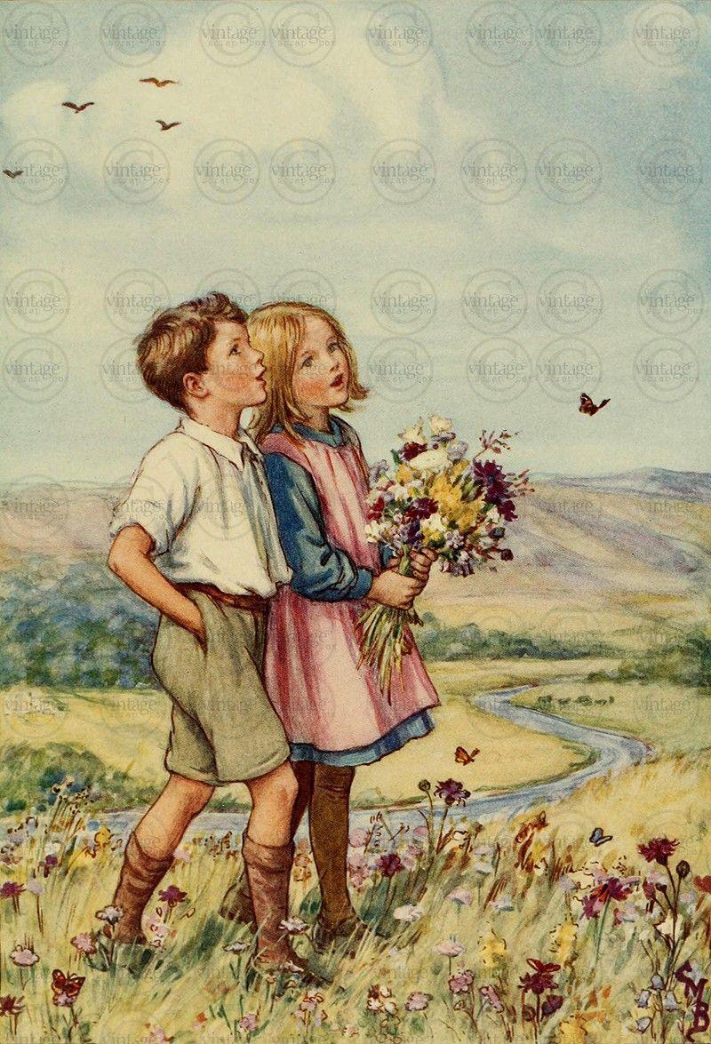 Vintage Kids Books My Kid Loves Koko S Kitten: Gorgeous Antique Illustration From A Children's Fairy Tale
