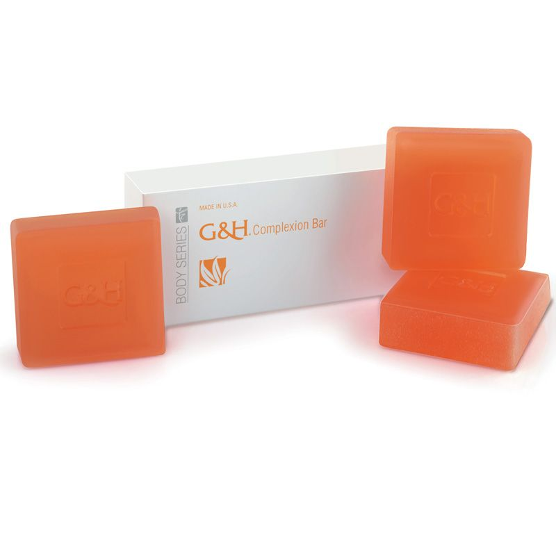 "G&H Complexion Bar. A gentle alternative to traditional soap, packed with natural ingredients to clean, contition and care for the whole family's skin - even sensitive skin. Added moisturising agents including natural glycerin and honey prevent skin drying out. Special ""breakaway"" design gives you three options for how and where to use your bar."