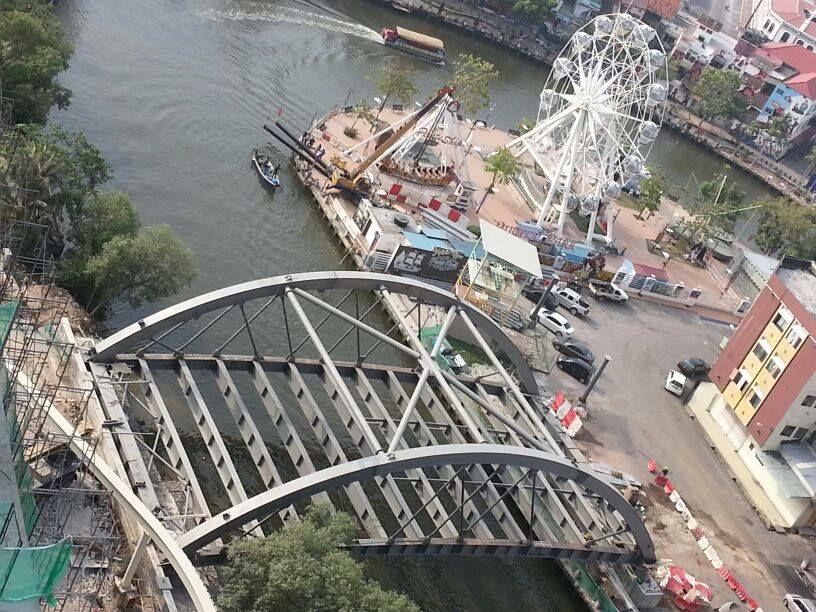 The Shore Melaka ext. bridge top view Places to visit