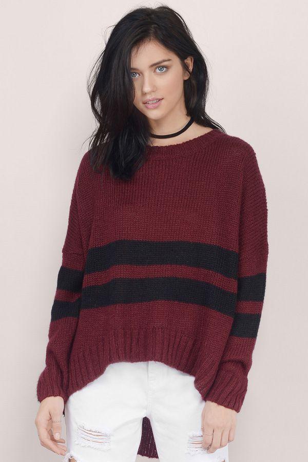 All About Stripes Knit Sweater at Tobi.com #shoptobi