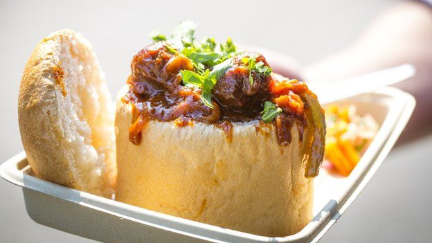 What is bunny chow street food south african food and curry this south african street dish with curry served inside a half or quarter loaf of bread is becoming a favourite for street food eaters world over forumfinder Choice Image