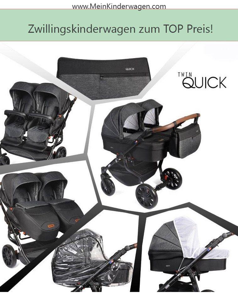 Zwillingskinderwagen Geschwisterwagen Twin Quick Tropic Gestell In Schwarz Mit Comfort Rader In 2020 Zwillingskinderwagen Zwillingswagen Geschwisterwagen