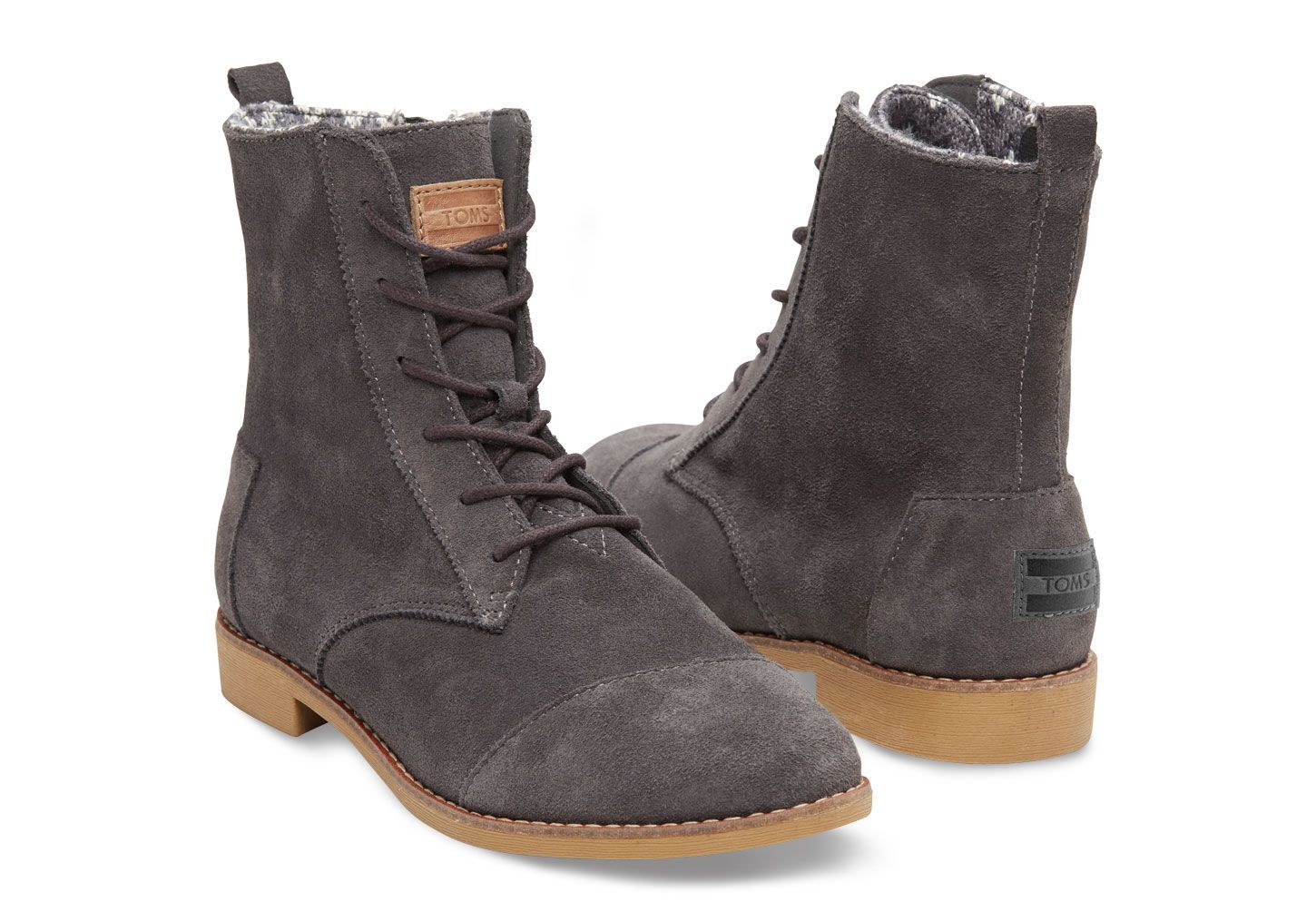 e310b7a31b0 DARK GREY SUEDE WOMEN S ALPA BOOTS from TOMS awesome