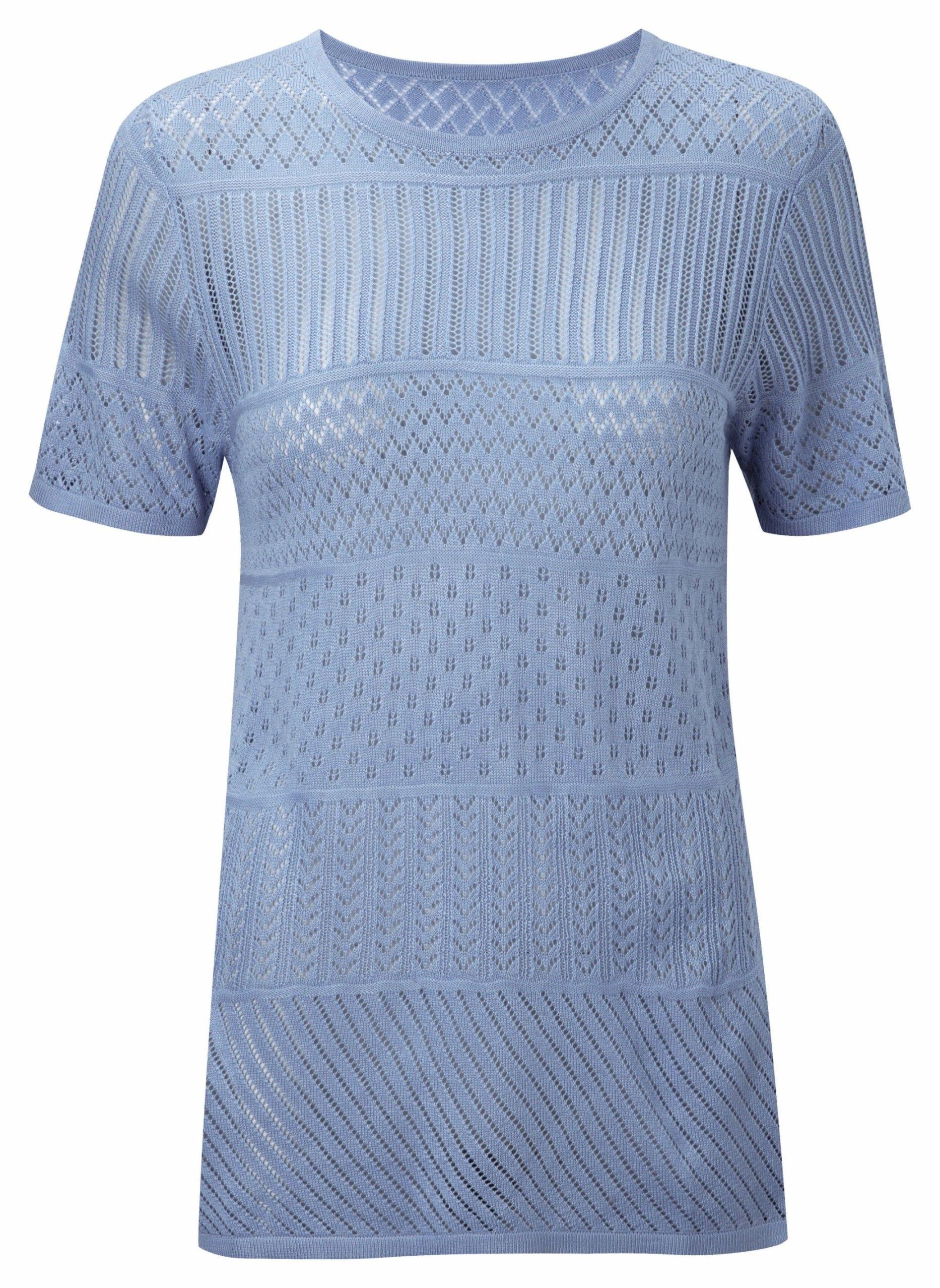 grande vente top design liquidation à chaud Damart stripe sweater in sky, product code W829. www.damart ...