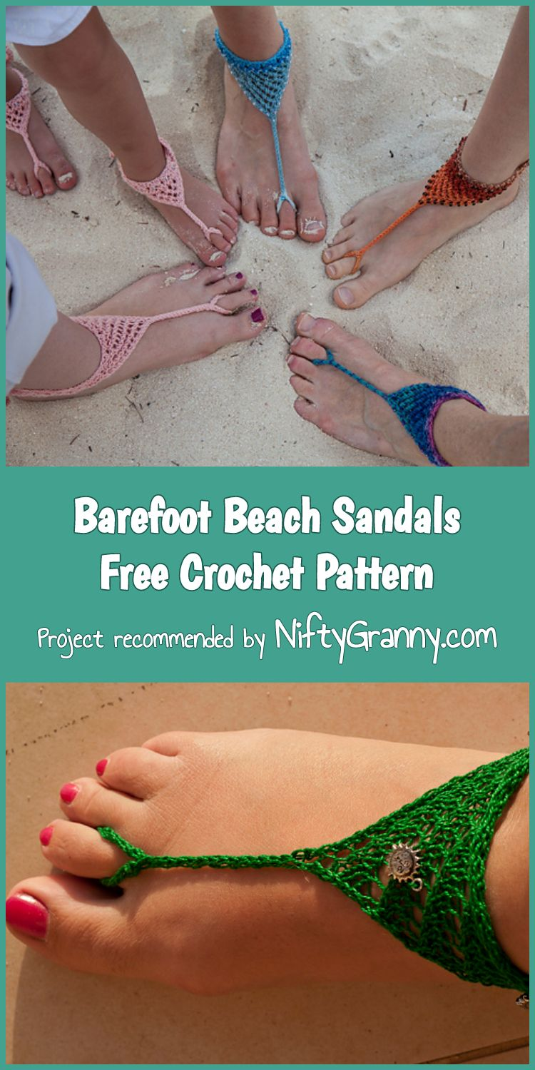 5 Awesome Crochet Barefoot Sandals Free Patterns 1001 Crochet