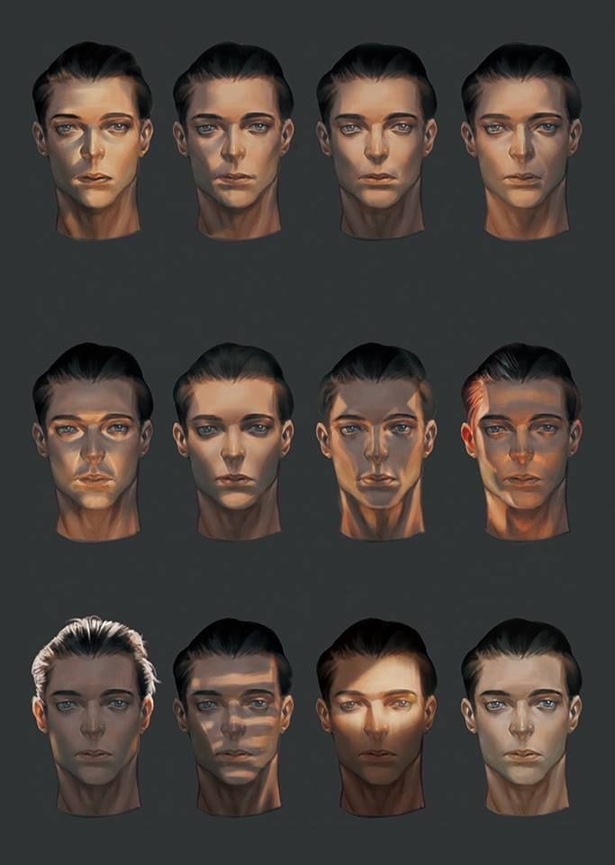 Shadows Affect On The Planes Of The Face Digital Art Tutorial Digital Painting Tutorials Painting Tutorial