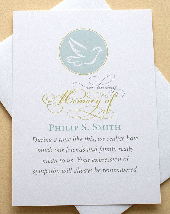 English Or Spanish Funeral Thank You Sympathy Cards With A