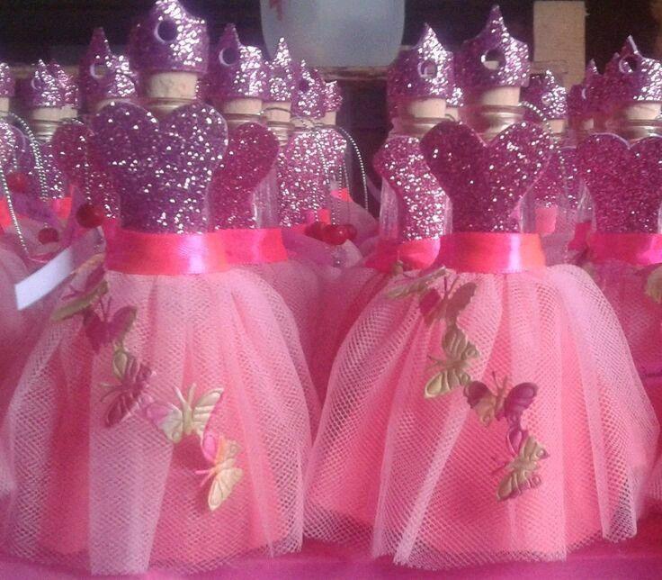 Hermosos centros de mesa con forma de vestido fiestas - Peceras pequenas decoradas ...