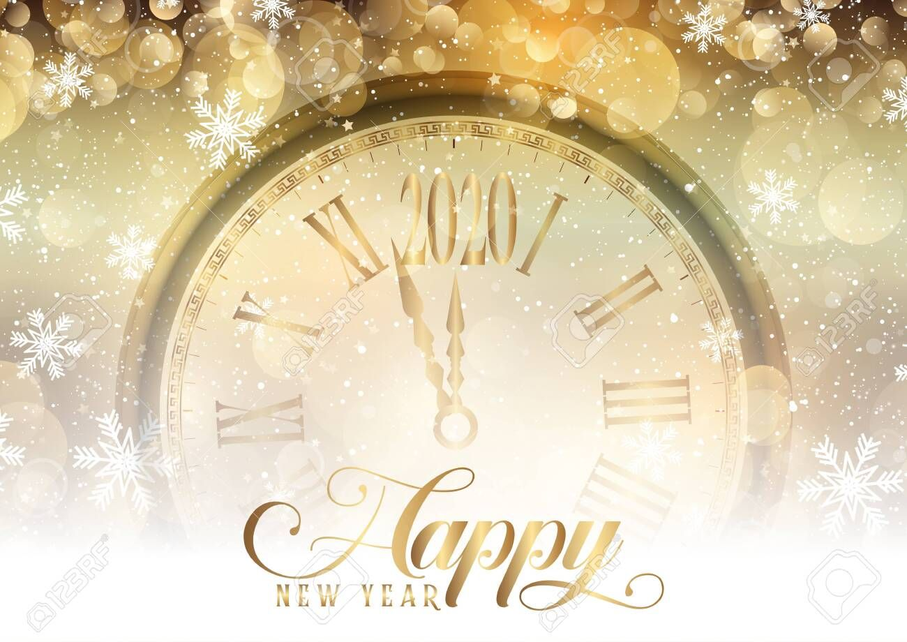 Happy New Year Background With Clock Design Stock Photo Aff Background Year Happy Clock Clock Design Happy New Year Background New Years Background
