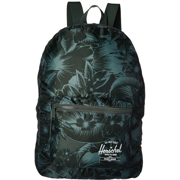 c80942cf54dd Herschel Supply Co. Packable Daypack (Jungle Floral Green) Backpack...  ( 30) ❤ liked on Polyvore featuring bags