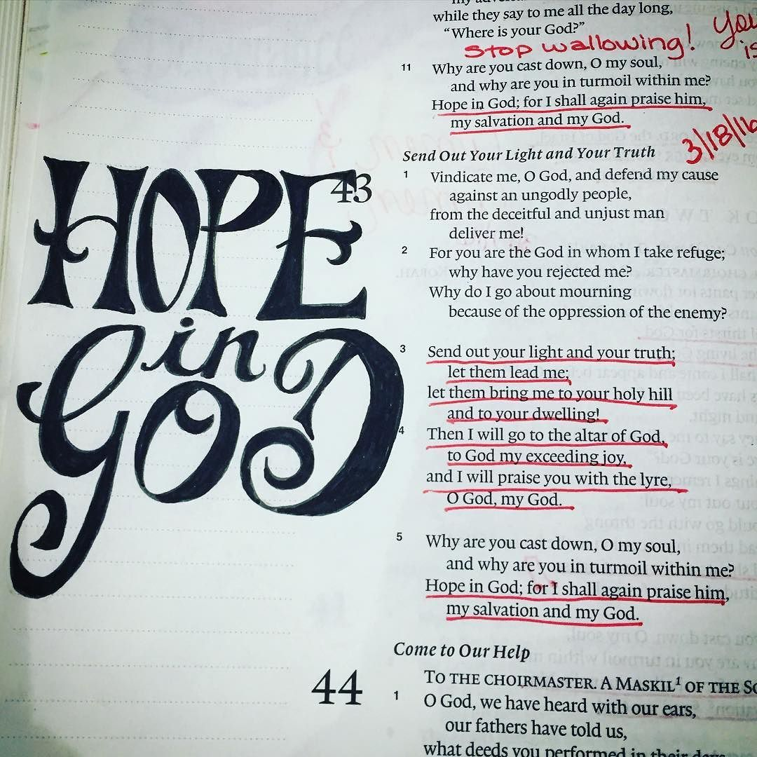 Pin by Les Feldick Bible Study on Bible Journaling | Hope in