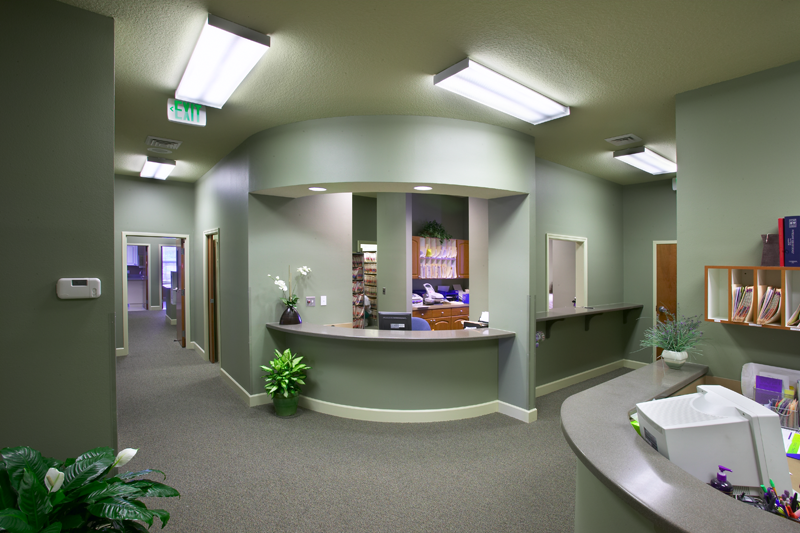 Front Reception Desk Doctors Office Waiting Area