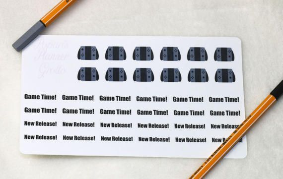 Planner Stickers Nintendo Switch Stickers Video Game Planner