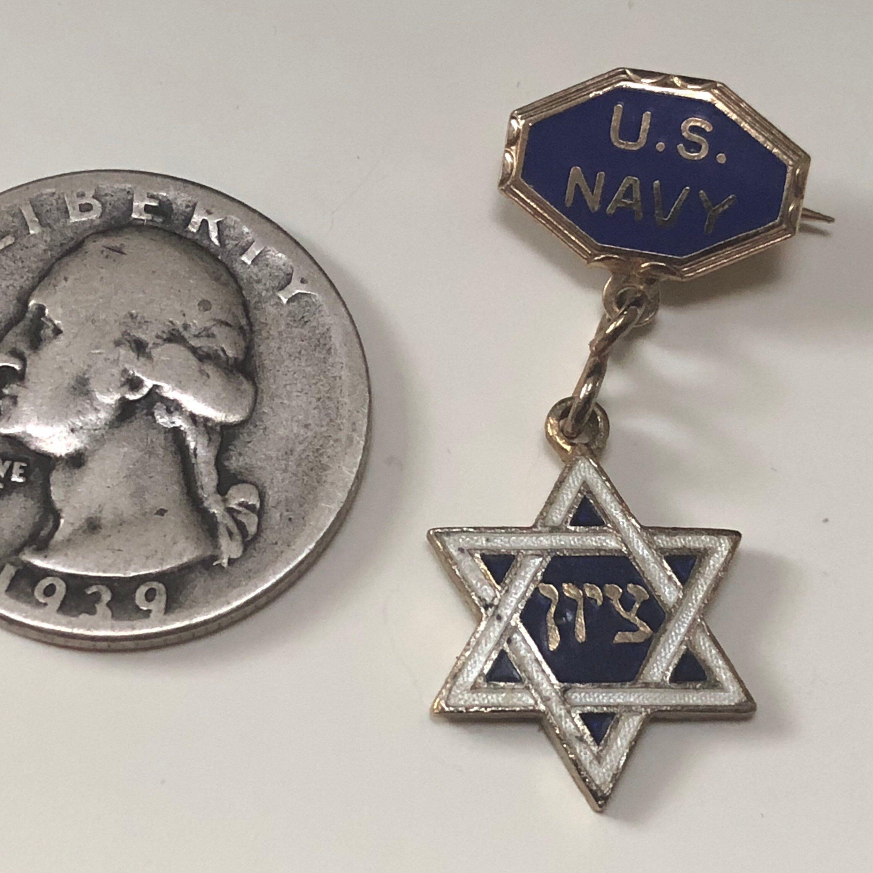 Jewish Star Vintage Us Navy Wwii Jewish Sweetheart Lapel Pin Etsy Jewish Jewelry Jewish Star Lapel Pins