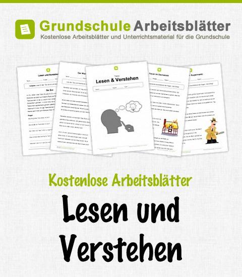 Kostenlose Arbeitsblätter Lesen & Verstehen | Schule | Pinterest ...