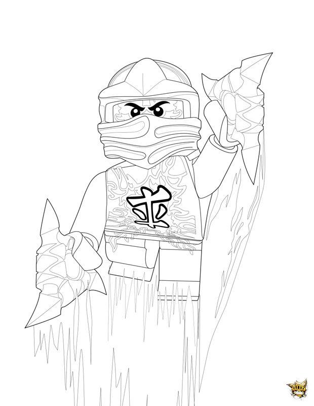 Saut Ninjago Coloriage Coloriage Ninjago Dessin A Colorier