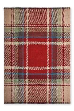 Wool Red Morcott Check Rug From The Next Uk Online