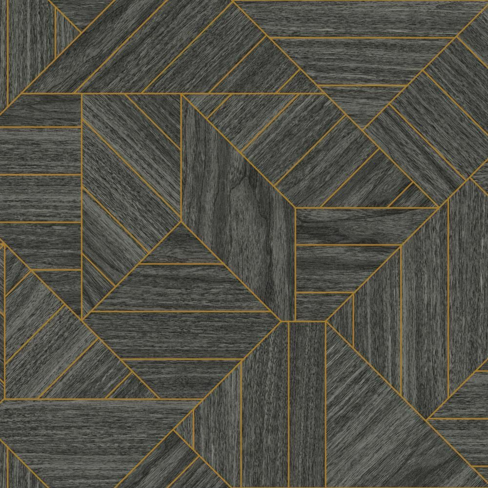 York Wallcoverings 56 Sq Ft Tailored Wood Geometric