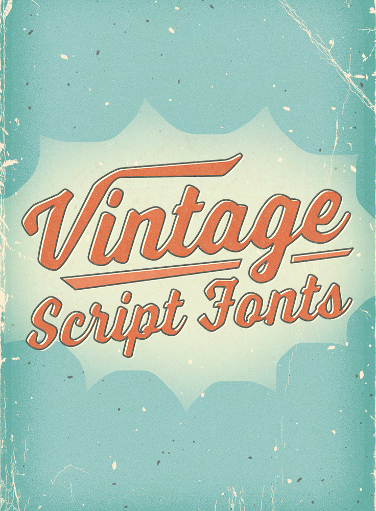 Vintage Script Fonts With A Bold Handmade Feel Vintage Script Fonts Vintage Fonts Free Graphic Design Software