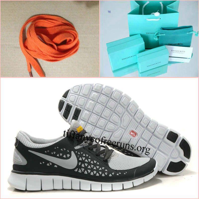 Womens Nike Free Run Gray Yellow Shoes half off