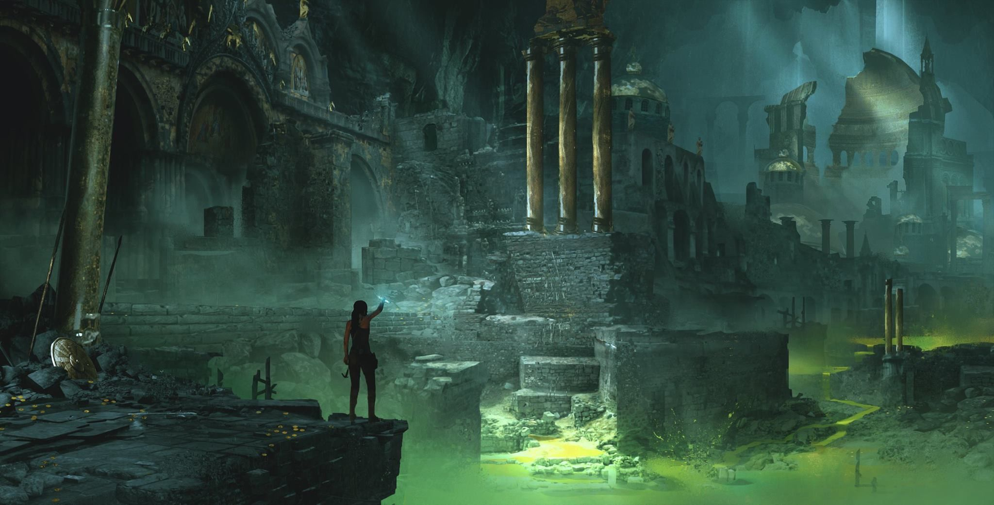 Pin By Edu On Tomb Raider Underwater City Lost City Of Atlantis Invisible Cities